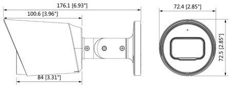 KAMERA AHD, HD-CVI, HD-TVI, PAL DH-HAC-HFW1230TP-036 0B 3.6mm DAHUA