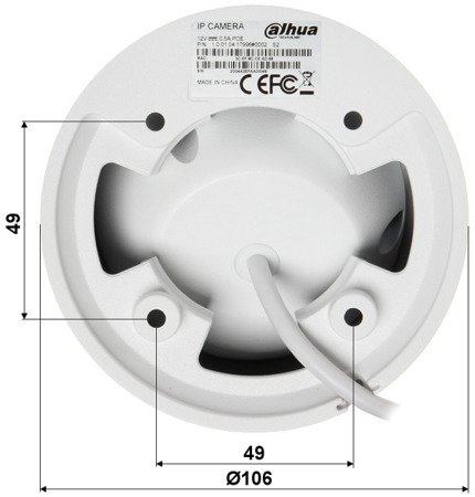 KAMERA IP DH-IPC-HDW4431EMP- ASE-0360B - 4.0Mpx 3.6mm DAHUA