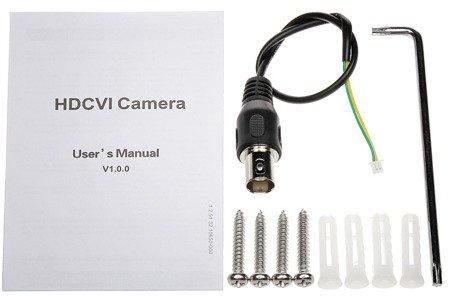 KAMERA WANDALOODPORNA HD-CVI, PAL DH-HAC-HDBW2221FP-03 60B - 1080p 3.6mm DAHUA