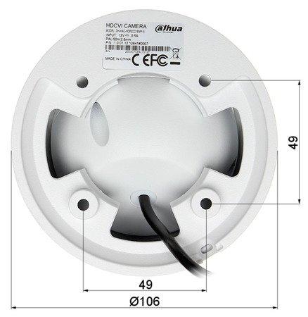 KAMERA WANDALOODPORNA HD-CVI, PAL DH-HAC-HDW2221EMP-A -0360B - 1080p 3.6mm DAHUA