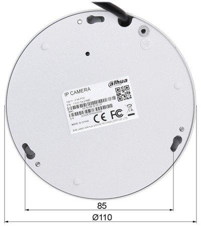 KAMERA WANDALOODPORNA IP DH-IPC-EB5500P-M12 - 5.0Mpx 1.42mm - Fish Eye DAHUA