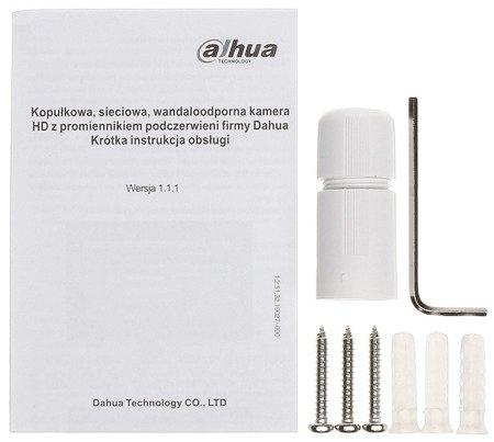 KAMERA WANDALOODPORNA IP DH-IPC-HDBW1230EP-S -0360B - 1080p 3.6mm DAHUA