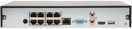REJESTRATOR IP DHI-NVR2108HS-8P-4KS 2 8 KANAŁÓW + 8-PORTOWY SWITCH POE, 4K UHD DAHUA