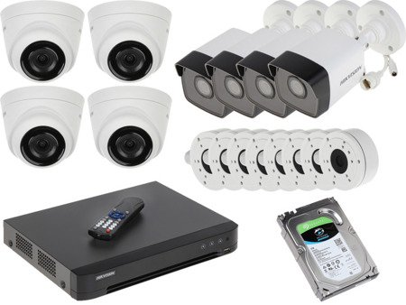 Zestaw Do Monitoringu IP Hikvision 8x Kamera 2.1 Mpx 2TB